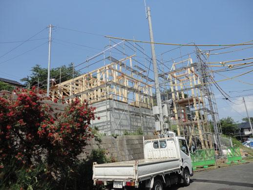 新会堂建設現場外観